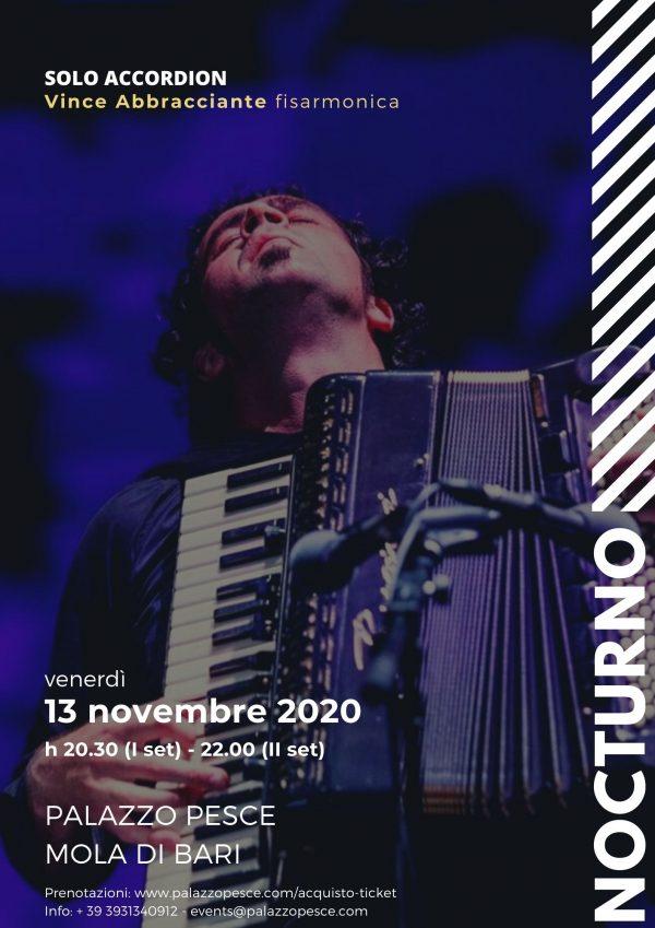 Nocturno Vince Abbracciante 13 novembre