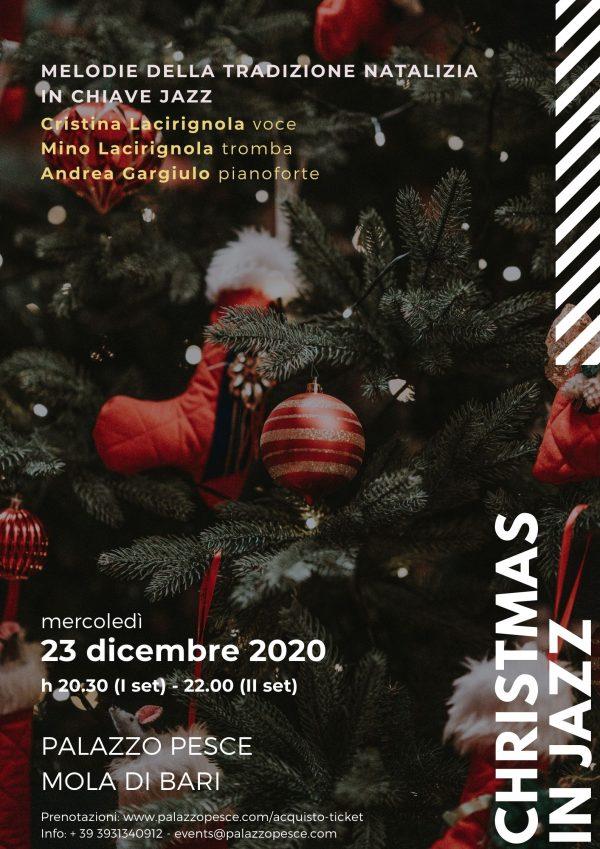 Christmas in jazz Andrea Gargiulo trio palazzo pesce